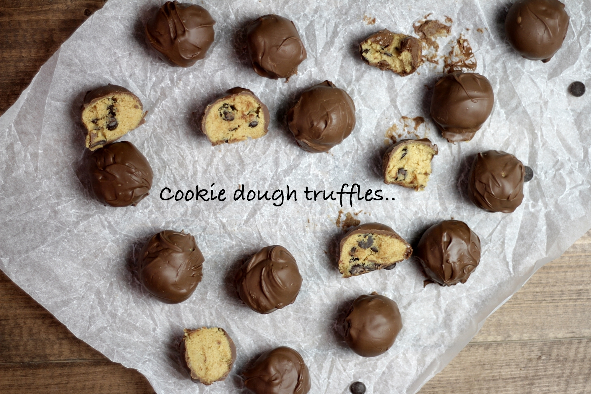 Cookie dough truffles