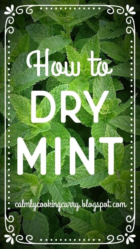 Tips: How to dry mint