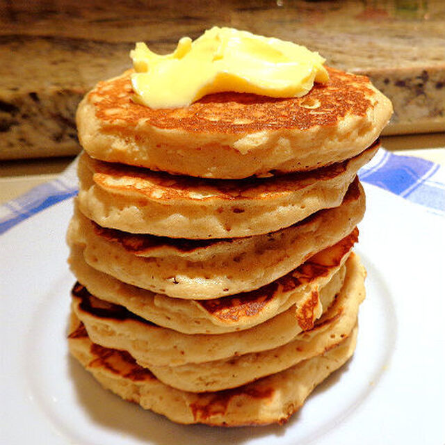Child's Play - Peanut Butter Pancakes or Waffles with Honey Butter