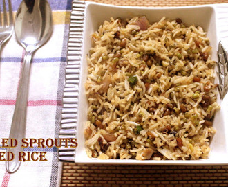 Sprouts fried rice recipe – How to make sprouts fried rice recipe – rice dishes