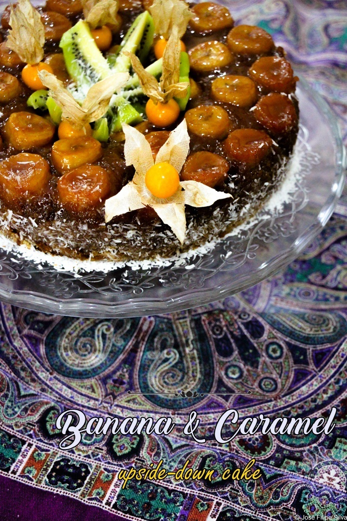 Banana & Caramel upside-down Cake