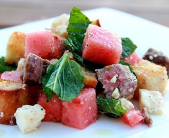 Lamb, Feta, Melon and Mint Salad