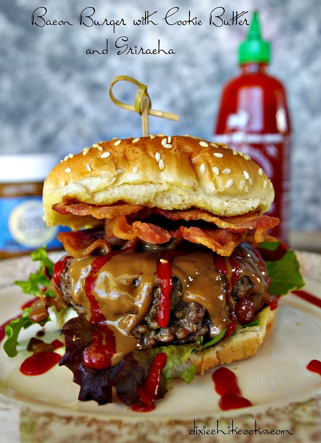 Bacon Burger with Cookie Butter and Sriracha