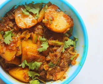 Cabbage with Potato Curry Recipe - Cabbage Aloo Sabzi Recipe