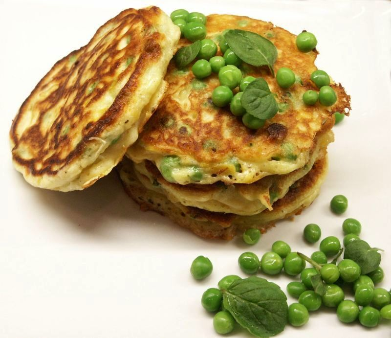 Sweet Potato and Pea Fritters
