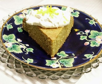 Pistachio and Orange Yogurt Cake with Orange Flavored Whipped Cream