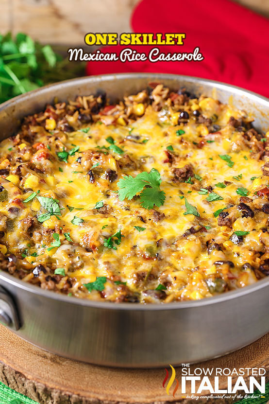 One-Pot Mexican Rice Casserole (With VIDEO)