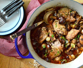 Coq Au Vin, #Cafe Marmotte, and A Mother's Recipe