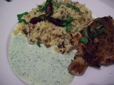 TFF  Brick Chicken with Apricot Couscous