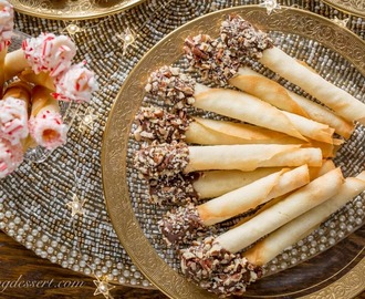 Tuile Cigar Cookies (Pirouettes)