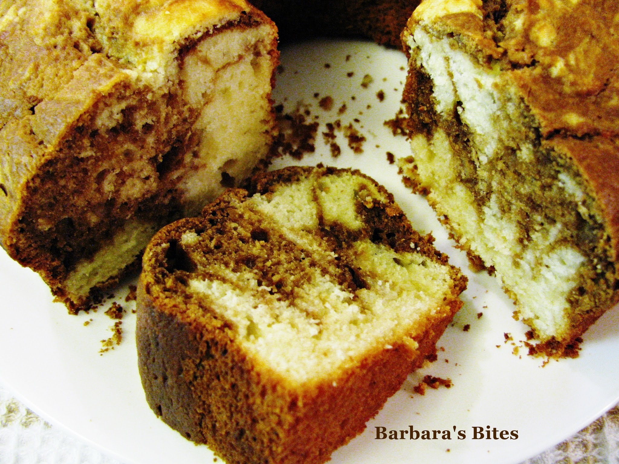 Super Moist Coffee and Ricotta Marble Cake