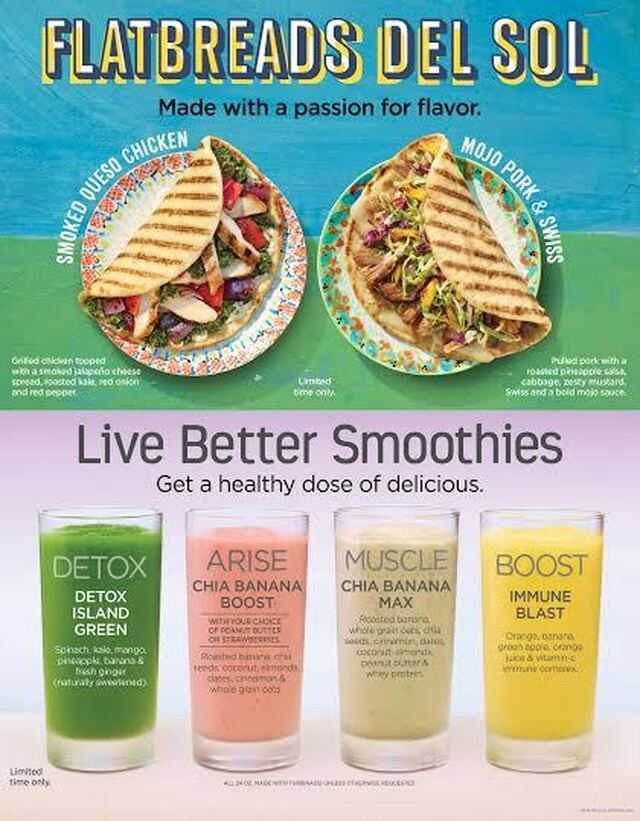 Tropical Smoothie New Flatbreads & Smoothies {Giveaway}