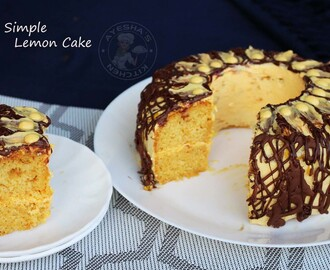 BEST LEMON CAKE -  MOIST LEMON CAKE RECIPE