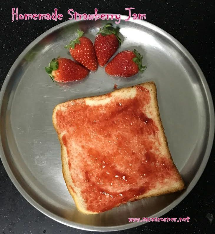 Easy Homemade Strawberry Jam without Agar Agar/china grass!