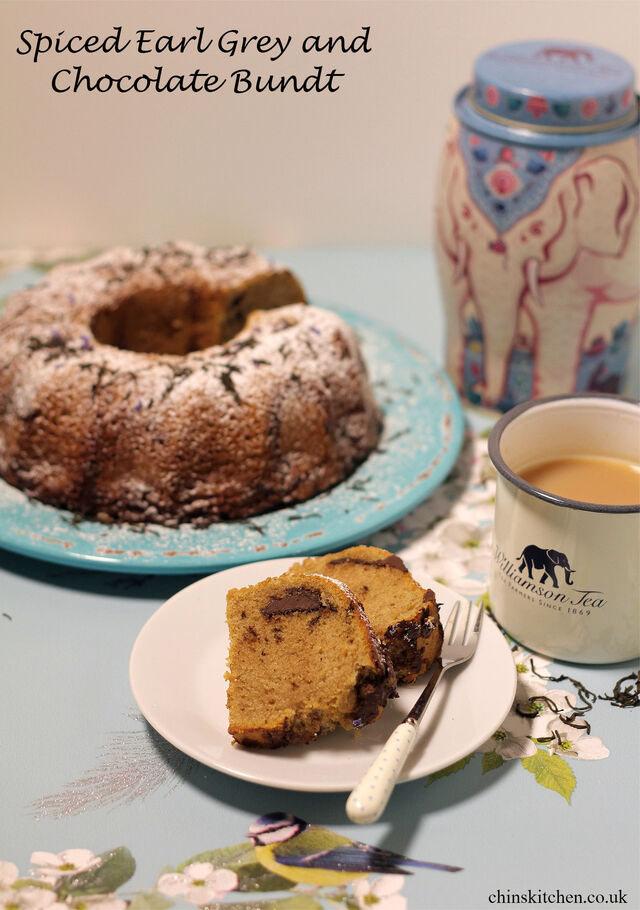 Mother's Day:  Spiced Earl grey and Chocolate Bundt