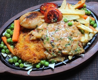 Fried Chicken Sizzler Recipe - Continental Recipes 2