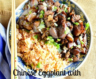 Chinese Eggplant with Pork and Garlic and China!