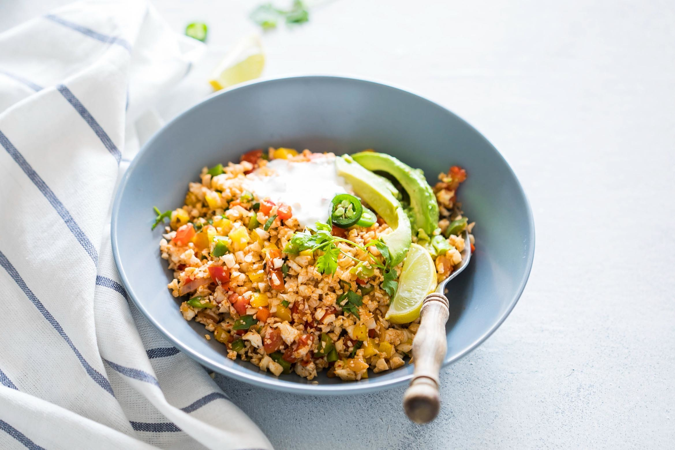 Low Carb Mexican Cauliflower Rice (Paleo, Vegan, Keto)