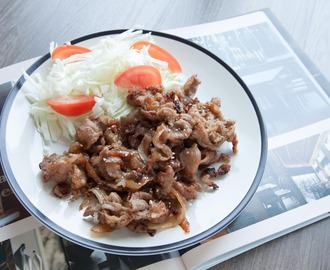 Young Ginger on Hand, How about Japanese Ginger Pork 豚の生姜焼き for Dinner?
