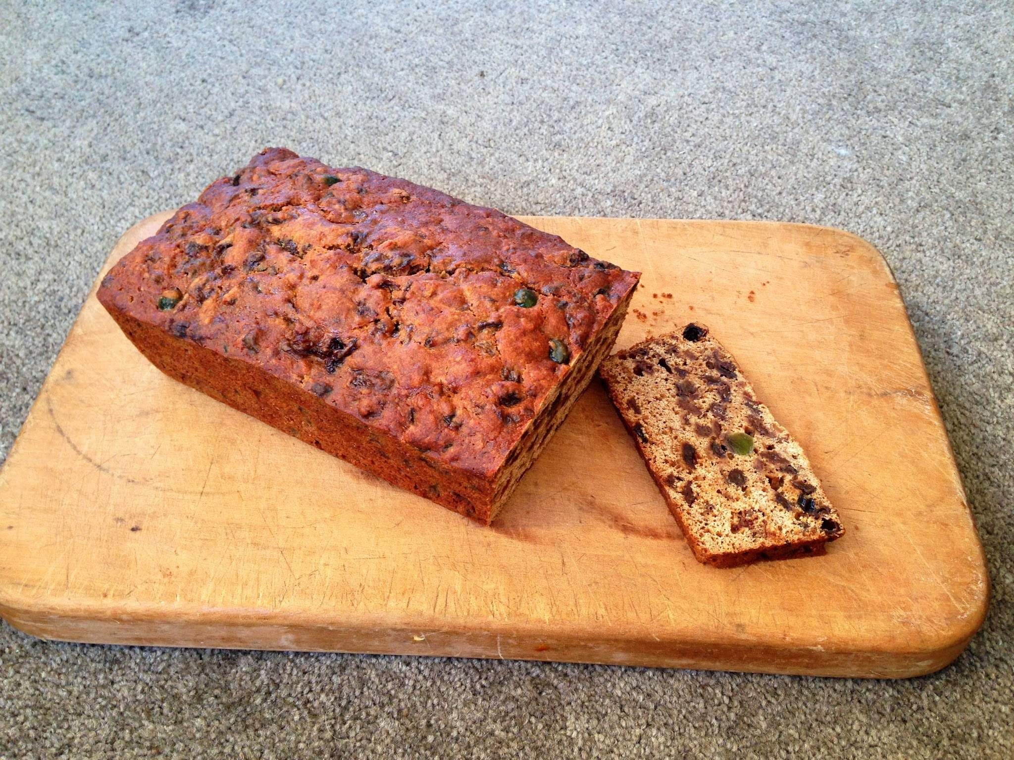 Low gluten, dairy free, refined sugar free Fruit Cake