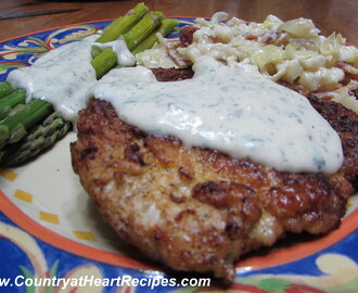 Pork Schnitzel with Cream Sauce