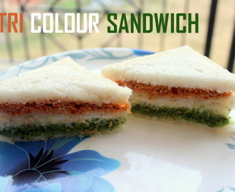 Tri colour sandwich recipe – How to make tri colour Indian sandwich recipe