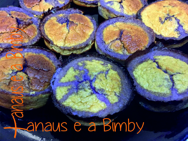 Muffins Light de Banana e Mirtilos na Bimby