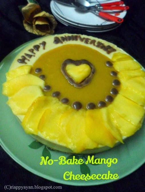 No-bake Mango CheeseCake(using Paneer, Condensed milk and Gelatin)