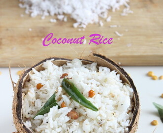 Coconut Rice | Thengai Satham | Variety Rice