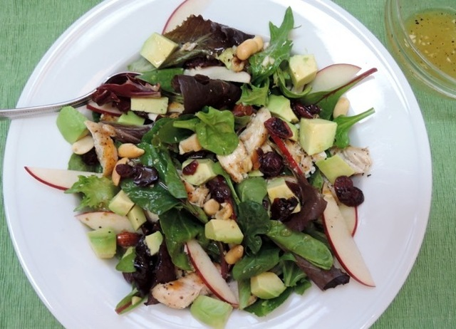 Grilled Chicken and Avocado Salad with Balsamic-Fig Dressing