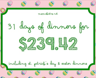 Spring Into Savings with March's Budget Menu Plan!