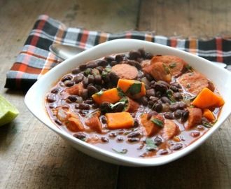 Smoky Black Bean & Sweet Potato Soup