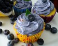 Lemon Blueberry Cupcakes with Blueberry Cream Cheese Frosting (and some Big Real Life News!!)