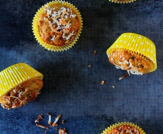 Papaya, Banana & Coconut Muffins