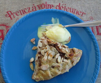 Pear croustade with lemon pastry and almonds (Crostata de peras con almendras)
