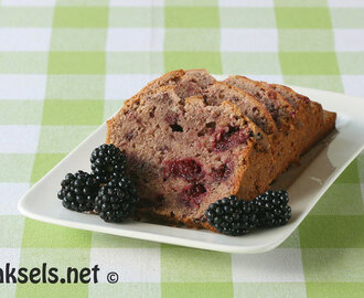 Blackberry Tea Bread (Engelse cake met bramen)