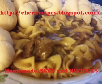 Homemade Crock Pot BEEF and NOODLES