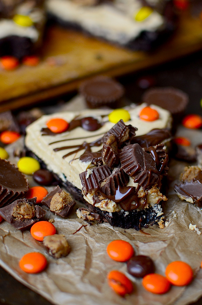 Reese's Peanut Butter Brownie Pie
