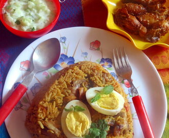 Chicken Biryani (Chicken Biriyani)