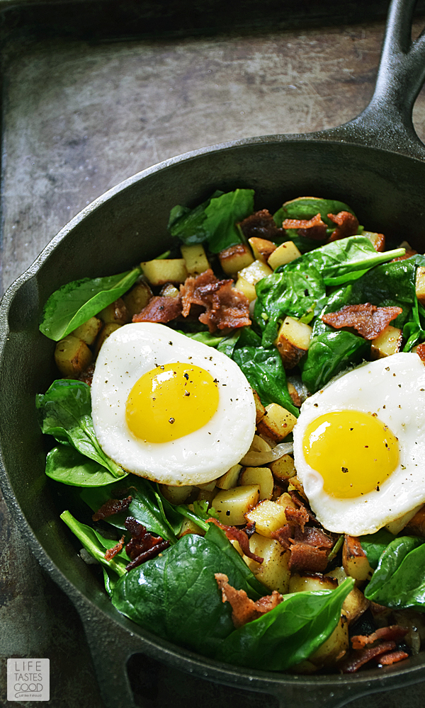 Skillet Breakfast Potatoes #SundaySupper