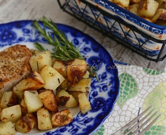 Italian Roasted Rosemary and Garlic Potatoes #SundaySupper