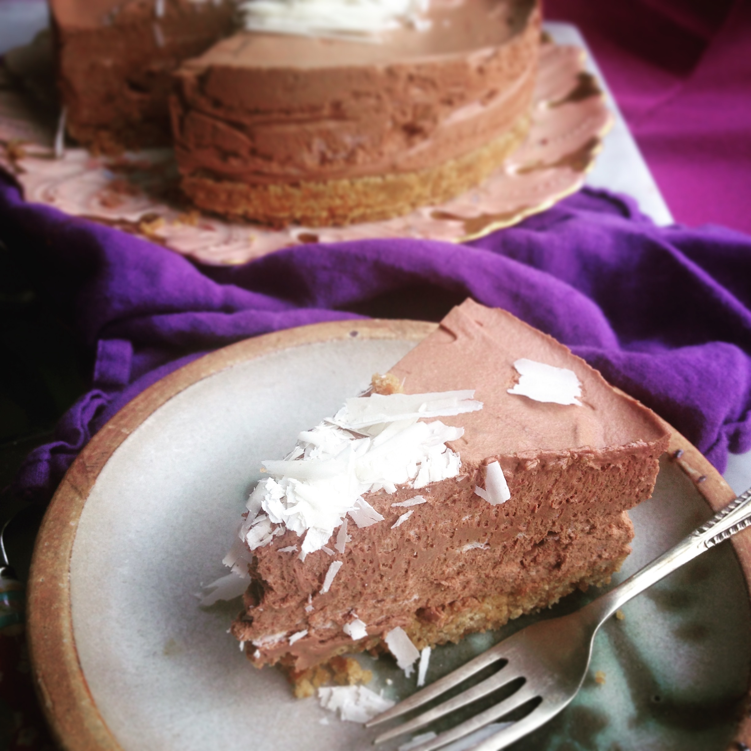 Magic Four Ingredient Luxurious Chocolate Mousse Cake