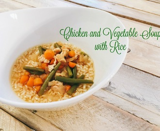 Chicken and Vegetable Soup with Rice