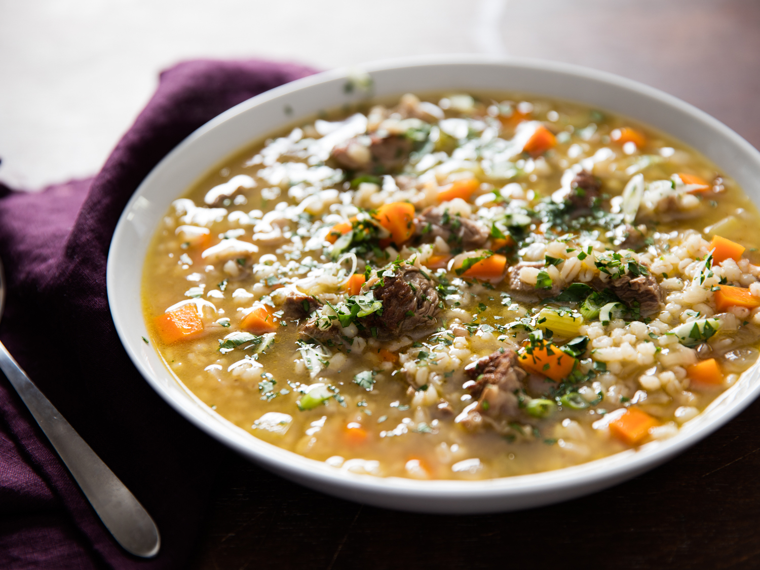 Rich and Hearty Beef Barley Soup Recipe