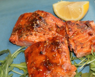 Zaatar Honey Sriracha Salmon Recipe