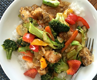 Meal under $10: Orange Marmalade Chicken Stir fry