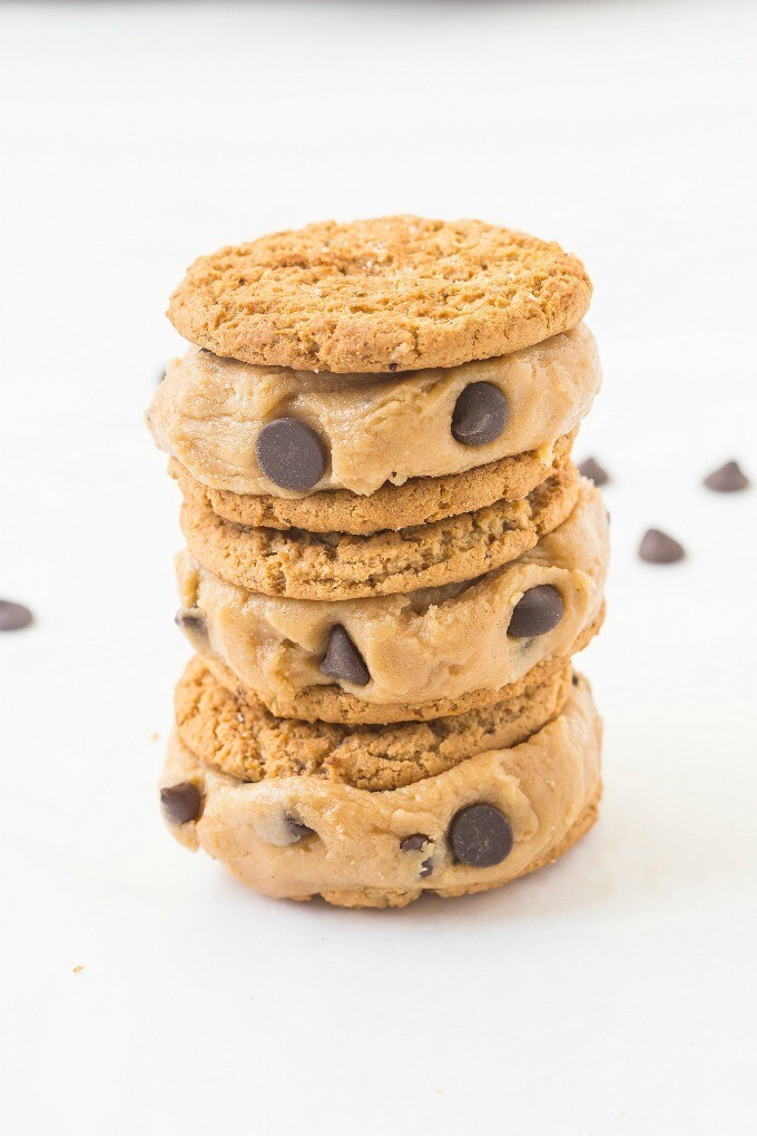 Healthy Flourless Cookie Dough Sandwich Cookies