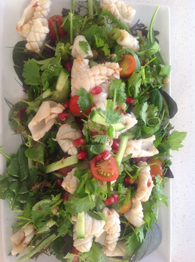 Spicy Squid green salad