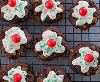 Chocolate Afghan Christmas Pudding Cookies Recipe