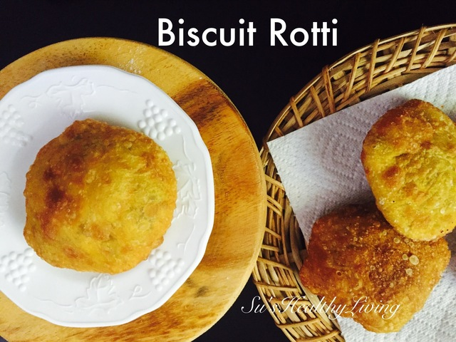 Biscuit Rotti ( stuffed fried bread)